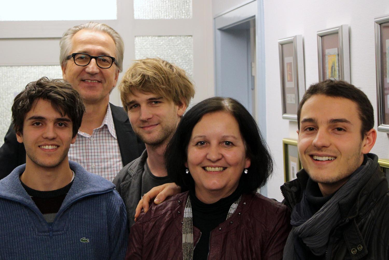 Max Bloching, Georg Löffler (GLM), Tom Wörndl, Michèle Claveau (GLM) und Michl Bloching (von links nach rechts)